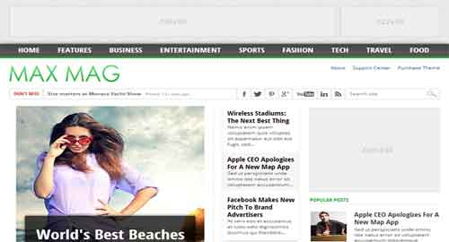 Max Mag Blogger Template