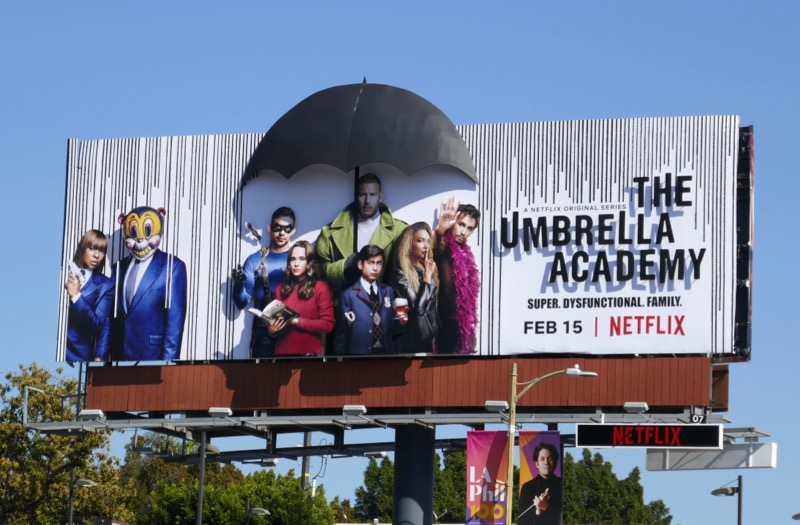 Umbrella Academy 3D billboard installation