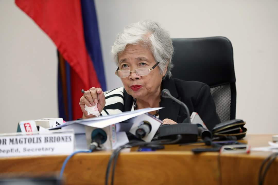 Education Secretary Leonor Briones says it's time to review the K-12