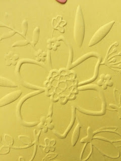 Congratulations card, Lovely Floral Embossing Folder