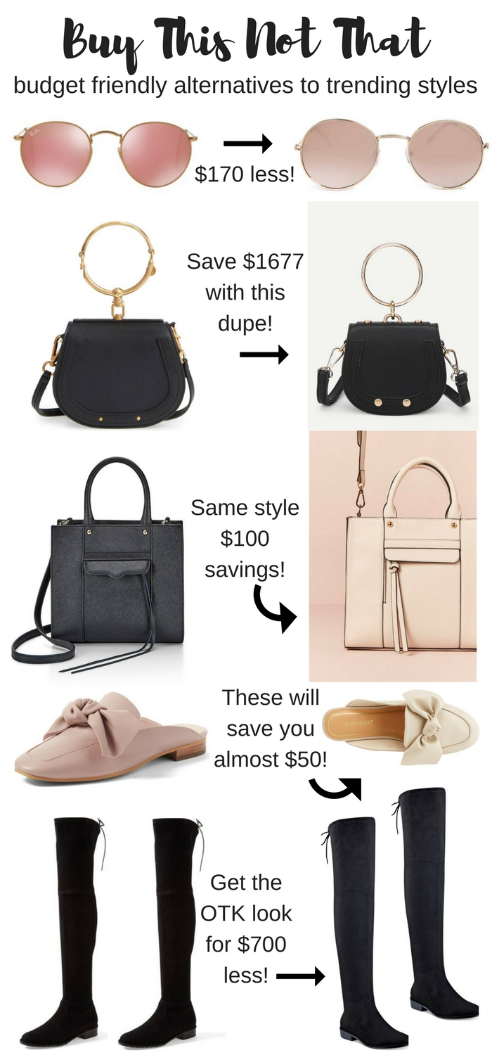 5 trendy fashion items to save money on for the frugal fashionista