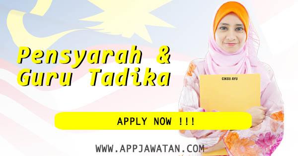 Jawatan Kosong Terkini berkaitan Guru Tadika dan Guru di Malaysia