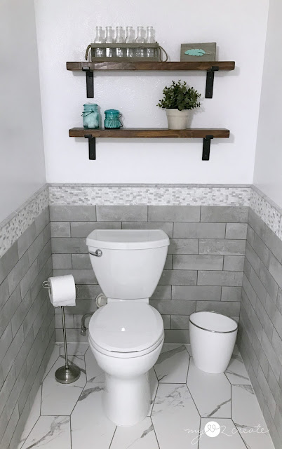 after of toilet area
