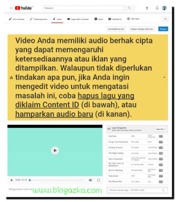 video yang melanggar hak cipta