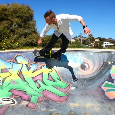 Mark Jansen Adelaide Skateboarding Hallett Cove Graffiti Carve