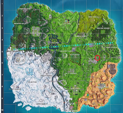 Dance Locations, Water Tower, Fortnite