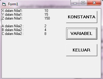 Latihan02 (Variabel&Konstanta)
