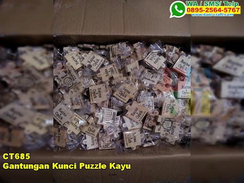 Gantungan Kunci Puzzle Kayu