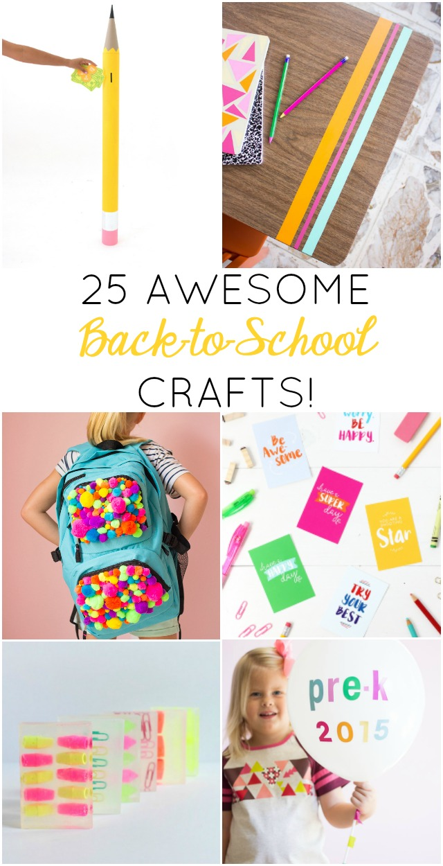 All of these 25 back-to-school crafts are so fun - I want to make them all!