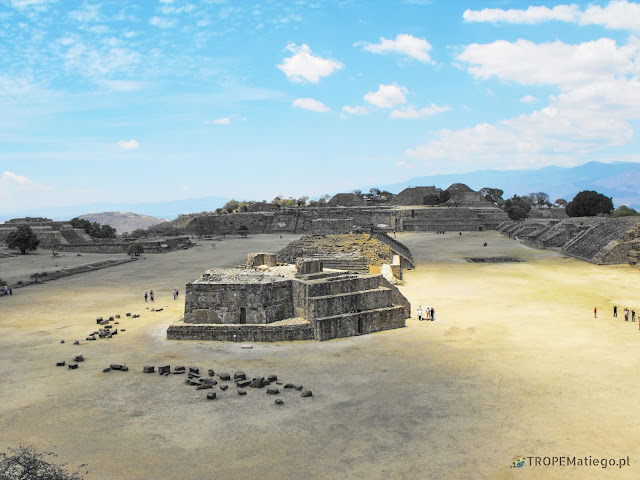 The view of main square of Monte Albán from the south