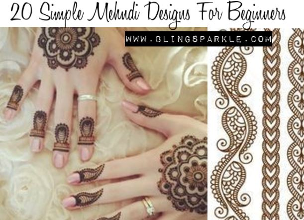 Mehndi Patterns Images : Simple mehndi designs for beginners bling sparkle