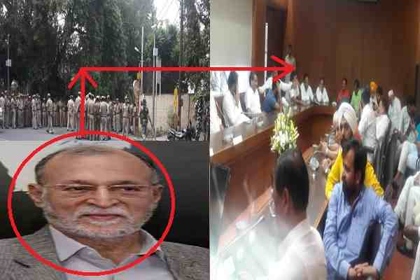 delhi-lg-called-police-as-kejriawl-reached-force-fully-with-aap-mlas