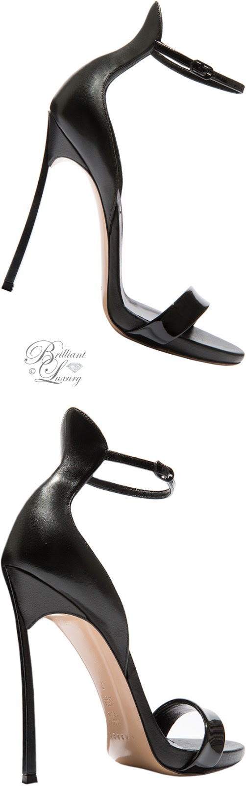 Brilliant Luxury ♦ Fall in ~ Casadei Blade sandals in black