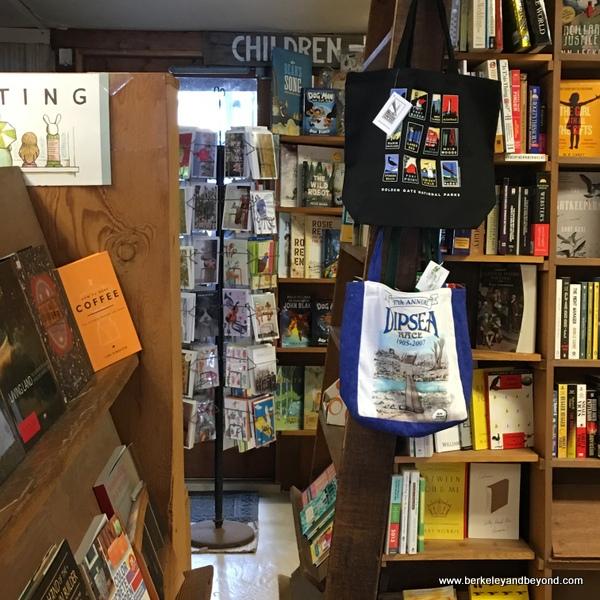 interior of Stinson Beach Books in Stinson Beach, California