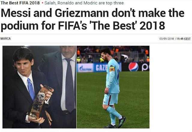 """""""The Best"""" hạ bệ Messi: Báo chí sốc nặng, ám chỉ FIFA thiên vị Ronaldo 3"""