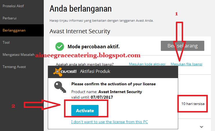 download lisensi avast 2015