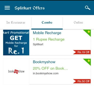 How to get ₹ 20 Recharge in ₹ 1 using Splitkart App Tricks