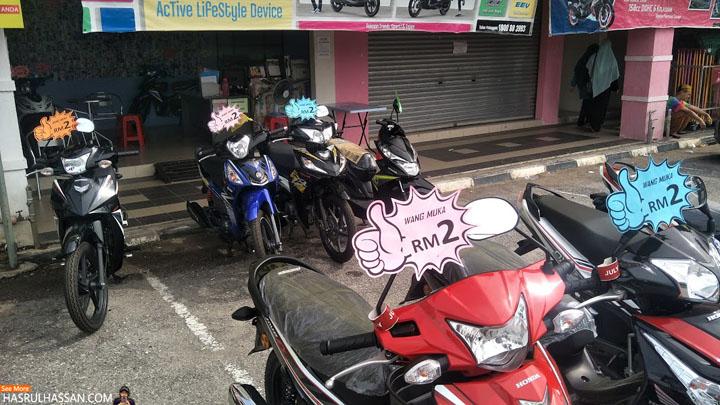 Beli Motor Wang Muka RM2, Tanpa Penjamin Tak Perlu Lesen