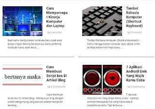 Homepage grid