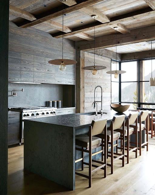 Дизайн-проекты. Стильный горный дом в Монтане