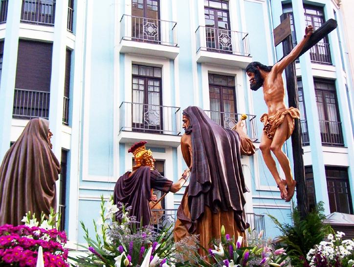 Paso de la Quinta Palabra. Cofradía de las Siete Palabras. León. Foto G. Márquez.