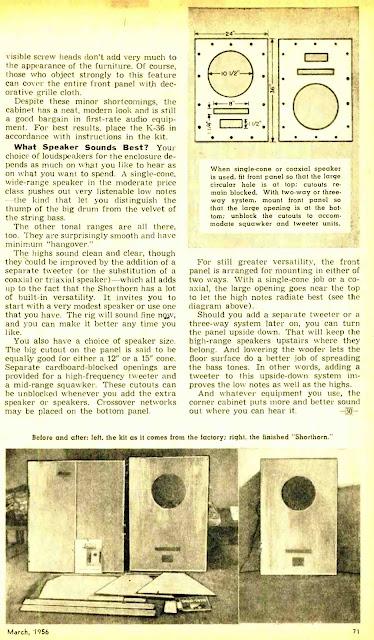 Shorthorn Kit Is Hi-Fi Bargain - Popular Electronics 1956