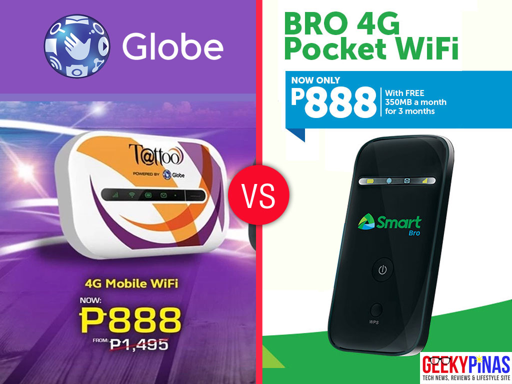 Globe Tattoo 4G Pocket WiFi vs Smart Bro 4G Pocket WiFi