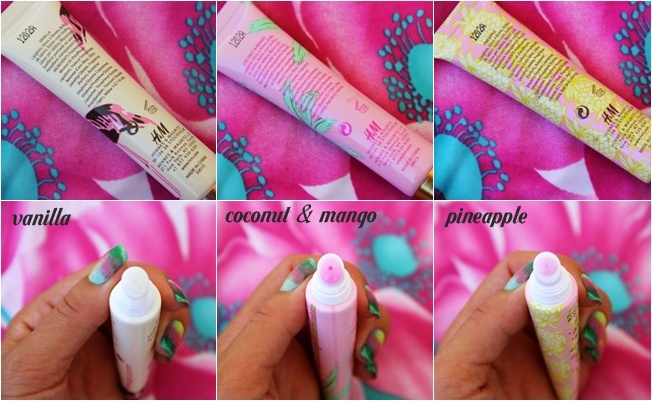 H&M tropical smell lipglosses
