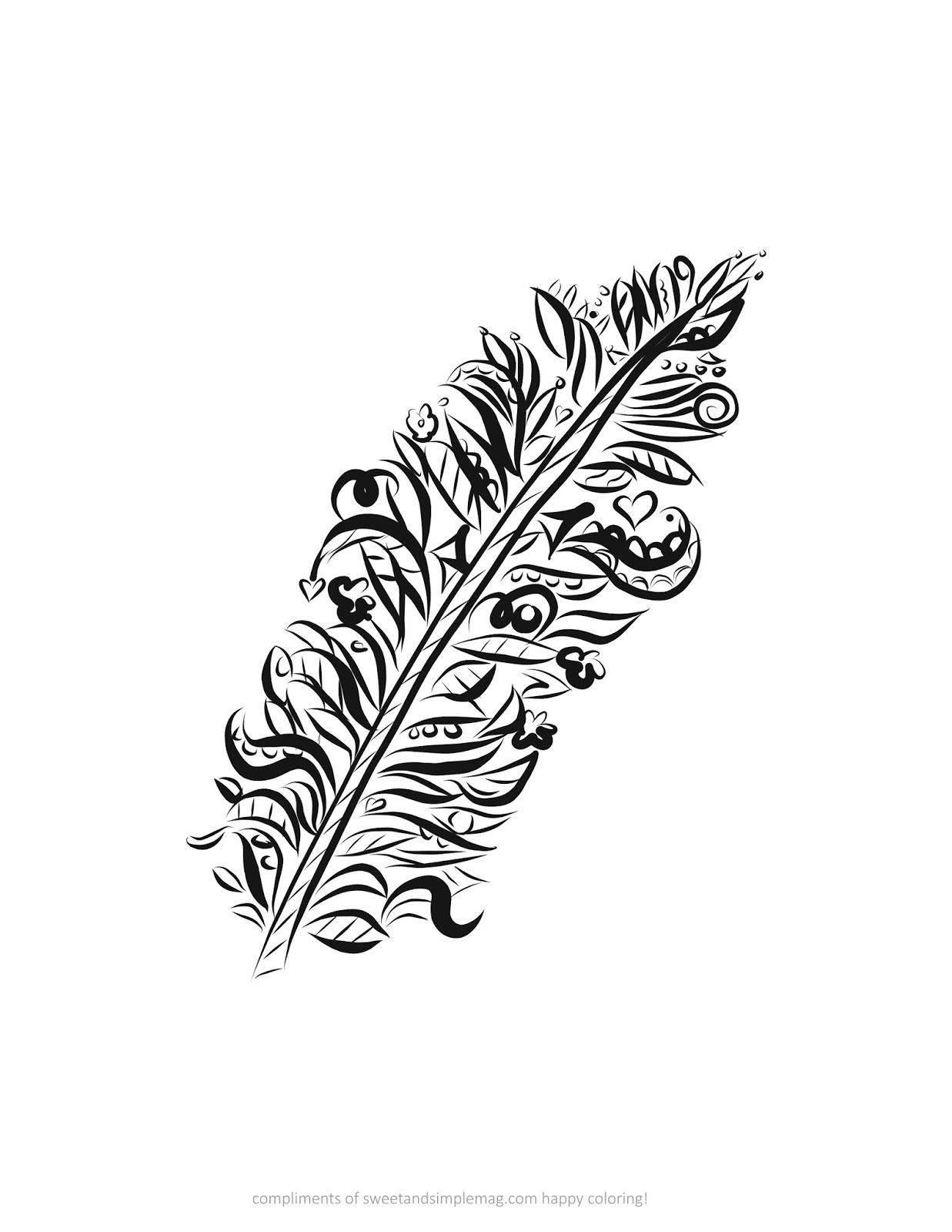 Indian feather coloring pages for Indian feathers coloring page