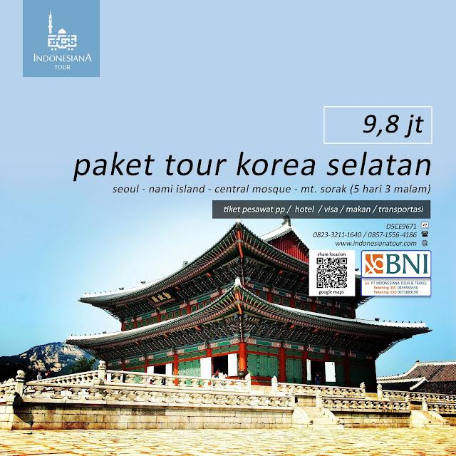 PAKET TOUR KOREA SELATAN SEOUL - NAMI ISLAND - CENTRAL MOSQUE - MT. SORAK