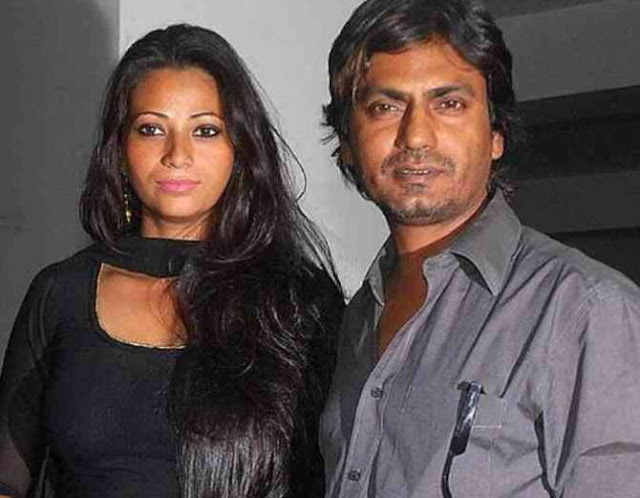 Nawazuddin Siddiqui with wife