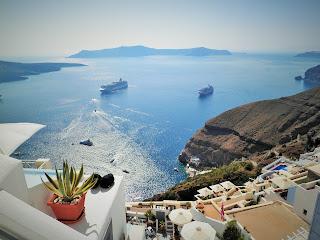 Santorini, Thira, Caldera, Kaldera