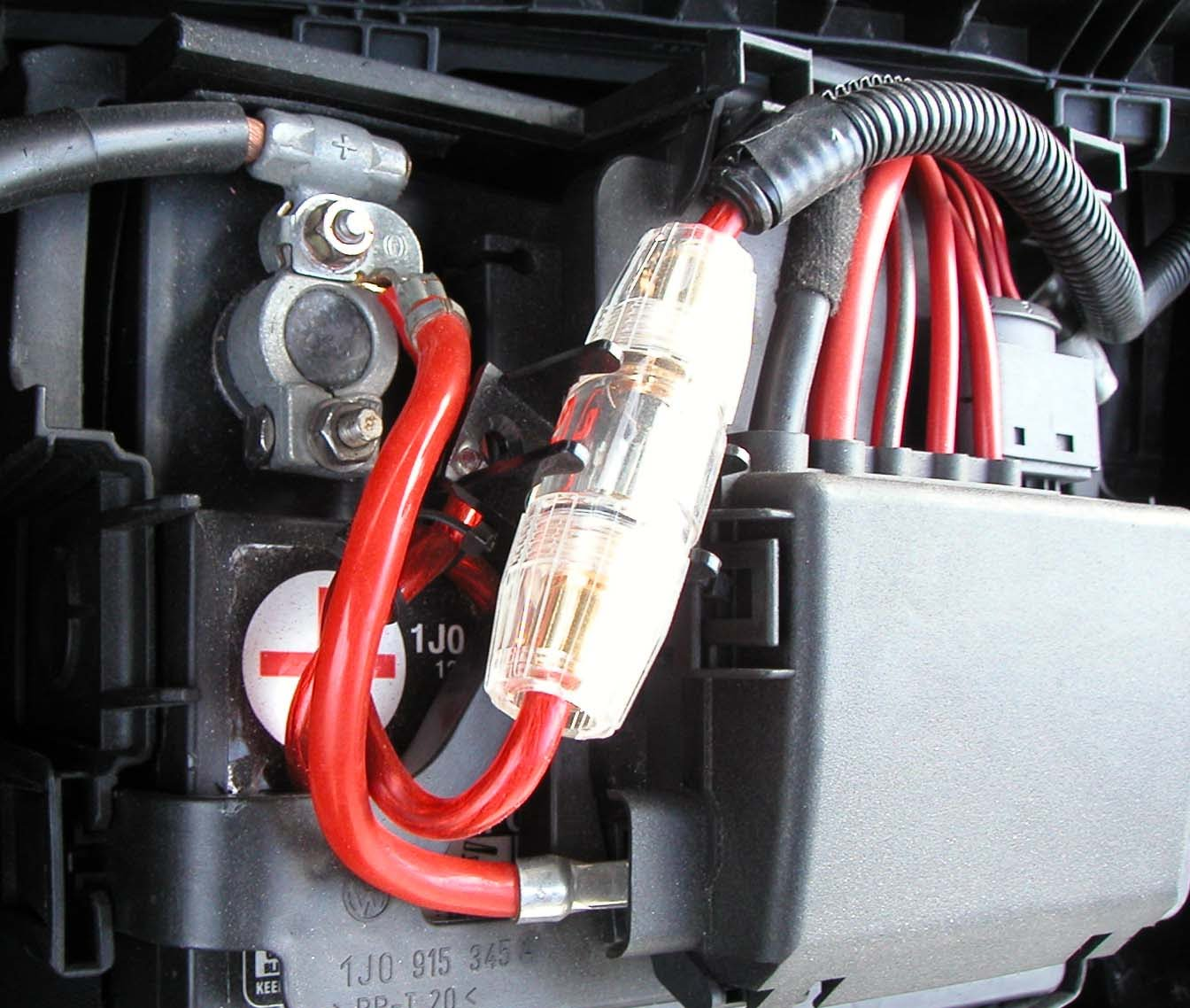 How To Add Fuse Holder To Car Amp Power Wire How To