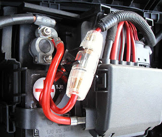 its important that there is a fuse placed in between the power wire that  provides the 12 volts to your car amp  this will protect the cars wiring  and the