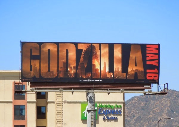 Godzilla 2014 movie billboard