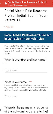 Facebook Research refer and earn