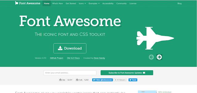 Font Awesome - Tools Desain untuk UX/UI Designers (Part I)
