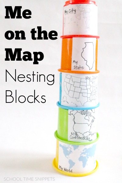 fun preschool geography me on the map activity