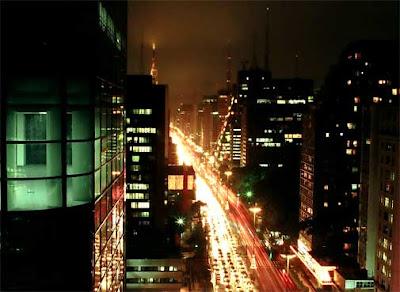 Cidade de São Paulo vista à noite
