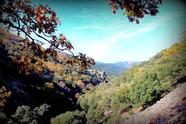 Vistas de la ruta del Chorro