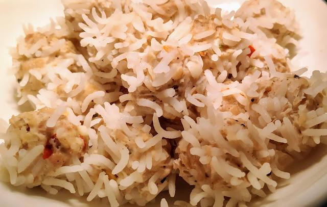 Cooled chicken rice flower dumpling food recipe