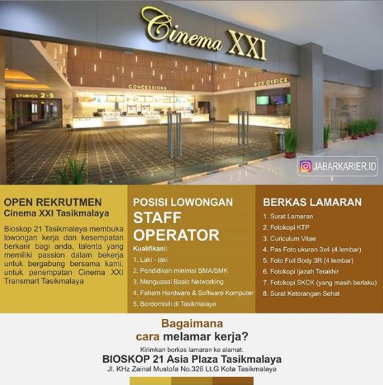 Lowongan Kerja Cinema Xxi Tasikmalaya Deadline 24 Februari 2019 Lowongan Kerja Terbaru Tahun 2020 Informasi Rekrutmen Cpns Pppk 2020