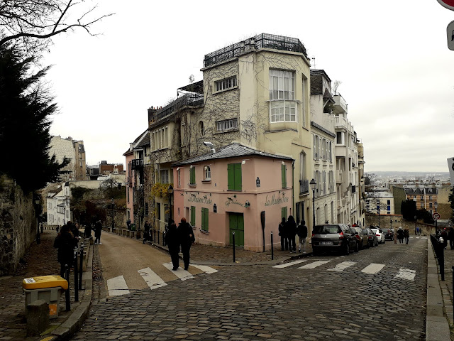 Corner view of La Maison Rose,Montmartre, Paris