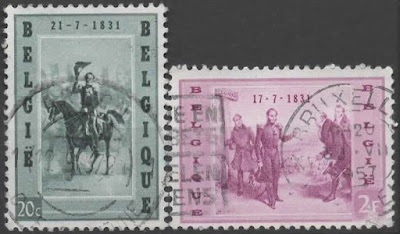 Belgium 1957 125th anniversary of the arrival of the king Leopold I
