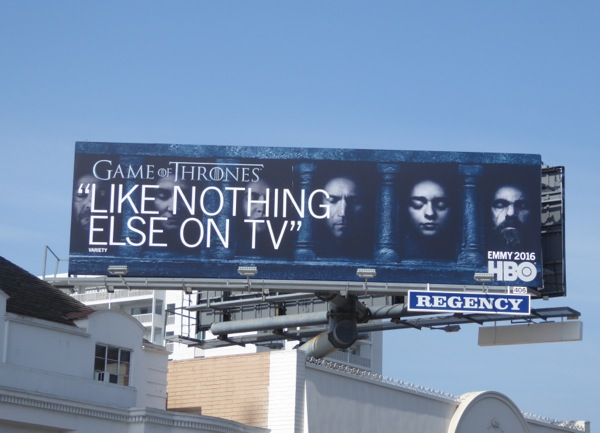 Games of Thrones season 6 Emmy 2016 billboard