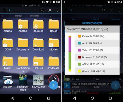 Tampilan Aplikasi ES File Explorer Pro
