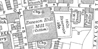 Dawson Hill Mill, OS map, 1829.