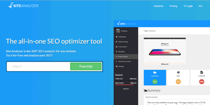 SiteAnalyzer is one of the most efficient website analysing tools