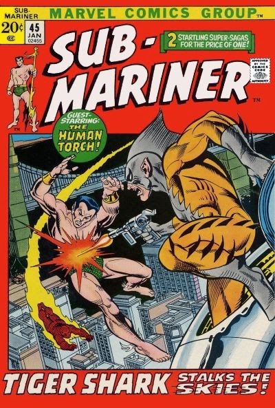 Savage Sub-Mariner #45, Tiger Shark