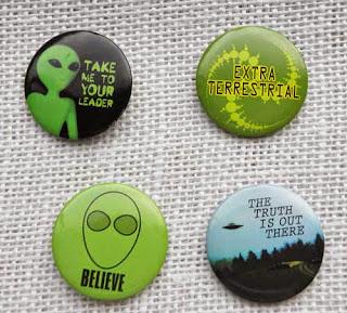 Alien and extra terrestrial badges